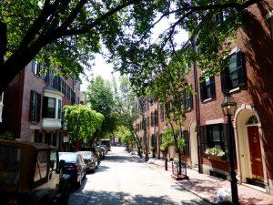 Straße im (reichen) Beacon-Hill-Viertel
