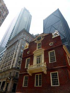 Das Old State House > hier wurden die ersten Reden zur Abschaffung der Sklaverei gehalten.