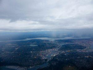Seattle beim Anflug.