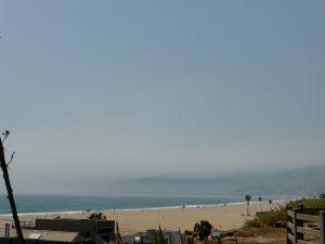 Blick Von Santa Monica Richtung Malibu, aber leider ziemlich diesig.