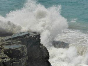 Aber, wie man sieht: Wellen haben eine ungeheure Power.