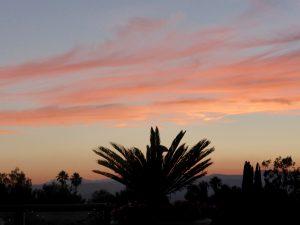 Kurz vor Sonnenuntergang in den Santa Monica Bergen.