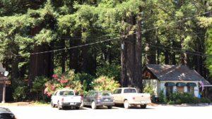 """Hinter den Autos, hinter den Büschen war """"mein"""" Cottage - richtig romantisch."""
