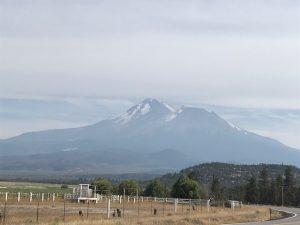 Aber dafür nochmals eine andere Sicht auf den Mount Shasta erwischt.