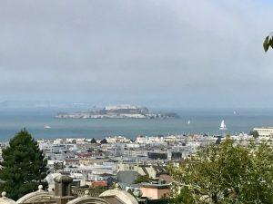Blick auf Alcatraz.