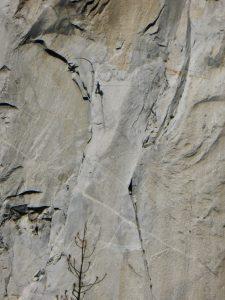 Ein Climber in der El Capitan-Wand.